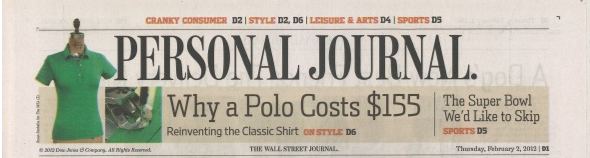 Personal Journal: Why a polo costs $155