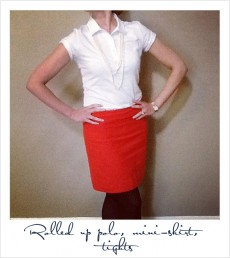 Women's Polo with Pencil Skirt