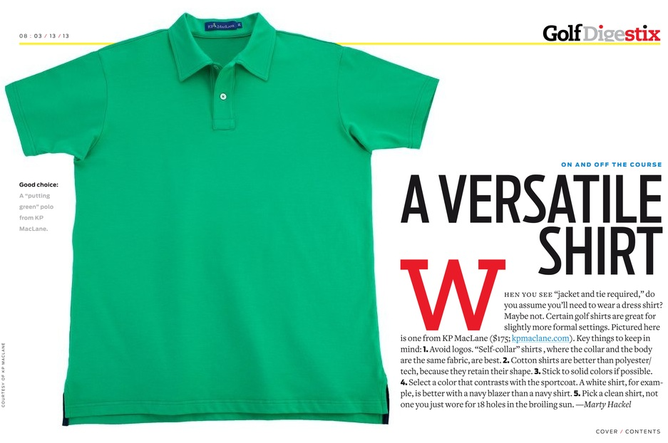 Golf Digest Six | KP MacLane Polo